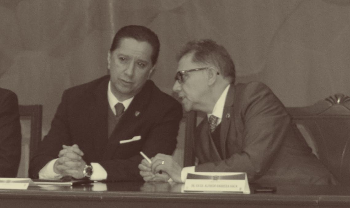 Jorge Olvera García y Alfredo Barrera Baca. Foto: Augusto López Velasco