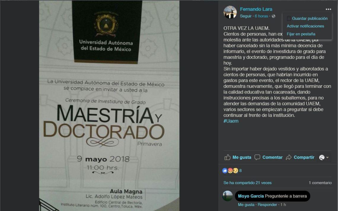 2018-05-09 23_33_27-Fernando Lara - OTRA VEZ LA UAEM. Cientos de personas, han...