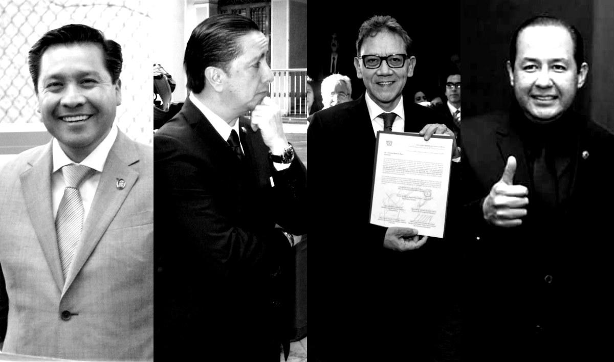 Javier González Martínez, Jorge Olvera García, Alfredo Barrera Baca e Ignacio Gutiérrez Padilla