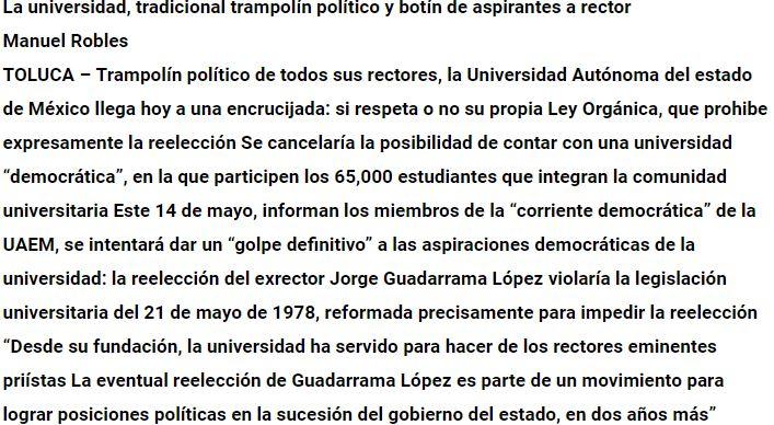 2019-06-02 18_11_51-La universidad, tradicional trampolín político y botín de aspirantes a rector -
